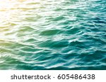 sea wave close up  low angle... | Shutterstock . vector #605486438