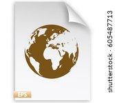 globe vector icon | Shutterstock .eps vector #605487713