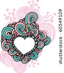 cute hand-drawn doodle heart - stock vector