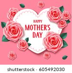 other's day card with heart and ... | Shutterstock .eps vector #605492030