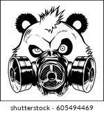 Bad Panda Gas Mask Vector...