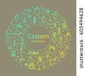vector illustration   eastern... | Shutterstock .eps vector #605494628