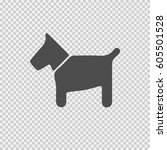 dog vector icon eps 10. simple... | Shutterstock .eps vector #605501528