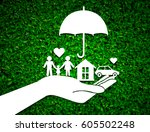 paper salesman agent hand... | Shutterstock . vector #605502248