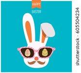 illustration vector of bunny...   Shutterstock .eps vector #605504234