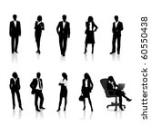 business people silhouettes | Shutterstock .eps vector #60550438
