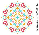 mandala. vector ethnic oriental ... | Shutterstock .eps vector #605507294