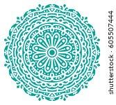 mandala. vector ethnic oriental ... | Shutterstock .eps vector #605507444