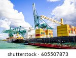 Container Ship In The Port Of...
