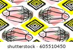hand drawn vector abstract... | Shutterstock .eps vector #605510450
