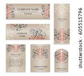 set of design templates for... | Shutterstock .eps vector #605515796