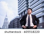 confident asian businessman... | Shutterstock . vector #605518220