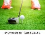 playing golf   shot of golf... | Shutterstock . vector #605523158