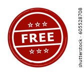 red free vector badge stamp... | Shutterstock .eps vector #605528708