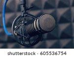 microphone in the radio studio | Shutterstock . vector #605536754