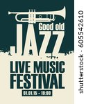 vector poster for the jazz... | Shutterstock .eps vector #605542610