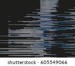 modern glitched background... | Shutterstock .eps vector #605549066