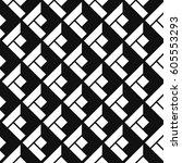 seamless isometric patterns | Shutterstock .eps vector #605553293
