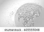 world map point  line ... | Shutterstock .eps vector #605555048