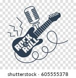 icon rock n roll day in the... | Shutterstock .eps vector #605555378