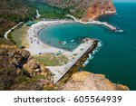 scenic view of the bolata bay ... | Shutterstock . vector #605564939