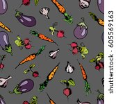 illustration of a pattern with... | Shutterstock .eps vector #605569163