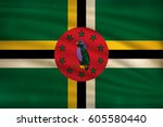 the national flag of dominica... | Shutterstock .eps vector #605580440