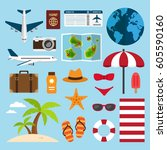 icons and element collection... | Shutterstock .eps vector #605590160