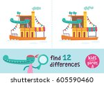 find the differences. kids... | Shutterstock .eps vector #605590460