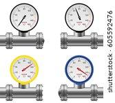 Pressure Gauge Pipe Set...