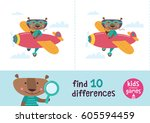 find the differences. kids... | Shutterstock .eps vector #605594459