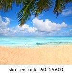 waves under palms | Shutterstock . vector #60559600