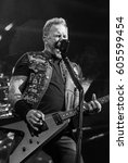Small photo of HONG KONG - January 20, 2017: American heavy metal band Metallica show, Vocalist James Hetfield performed on stage