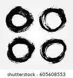 vector grunge circle.grunge... | Shutterstock .eps vector #605608553