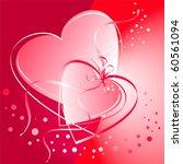 valentine hearts linked | Shutterstock .eps vector #60561094