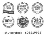 premium and best quality wreath ... | Shutterstock .eps vector #605619938