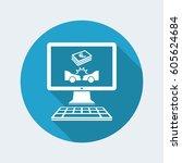 online insurance payout for car ... | Shutterstock .eps vector #605624684
