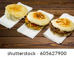Small photo of Venezuelan typical food, Arepa