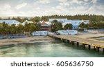 grand turk island in turks and... | Shutterstock . vector #605636750