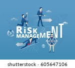 business metaphor of financial... | Shutterstock .eps vector #605647106