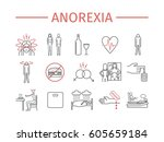 anorexia. symptoms  treatment.... | Shutterstock .eps vector #605659184