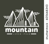 mountains and outdoor... | Shutterstock .eps vector #605668343