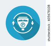 steady parking service 24 7  ... | Shutterstock .eps vector #605678108