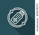 steady tv services   vector web ... | Shutterstock .eps vector #605678273