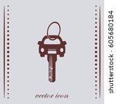 car key  vector icon | Shutterstock .eps vector #605680184
