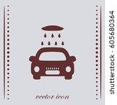 car washing icon  vector design | Shutterstock .eps vector #605680364