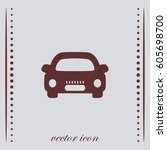 car vector icon | Shutterstock .eps vector #605698700