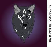 wolf. | Shutterstock .eps vector #605702798