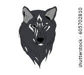 wolf. | Shutterstock .eps vector #605702810