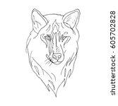 wolf. | Shutterstock .eps vector #605702828